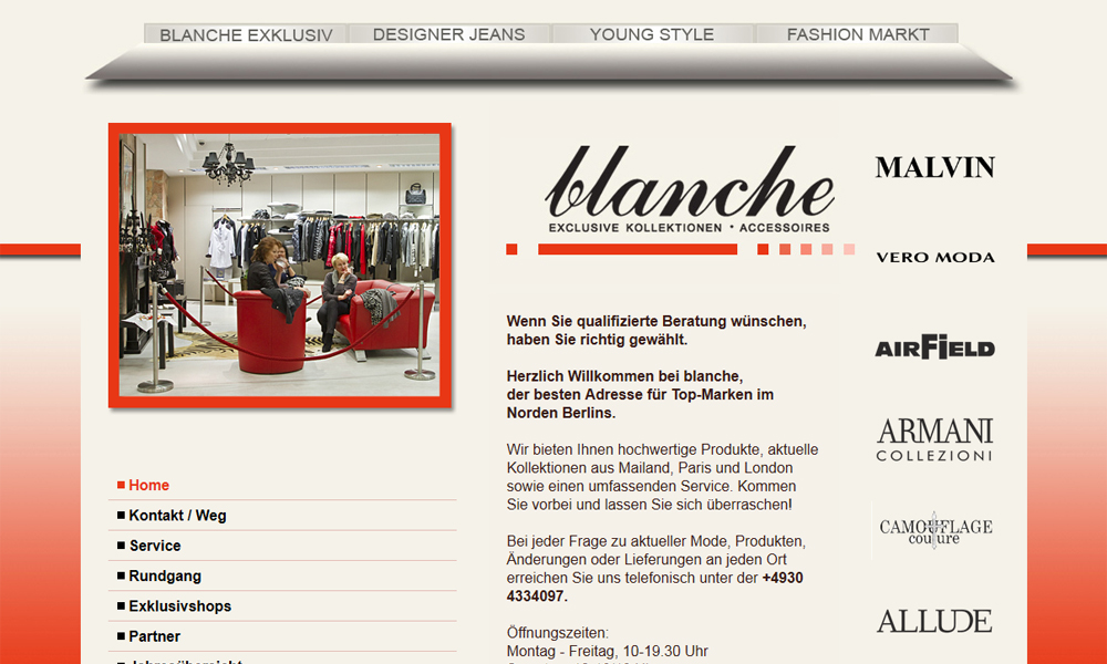 blanche im Tegel Mode Center